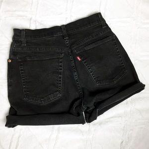 Vintage Levi's 550 Black Cutoff Jeans